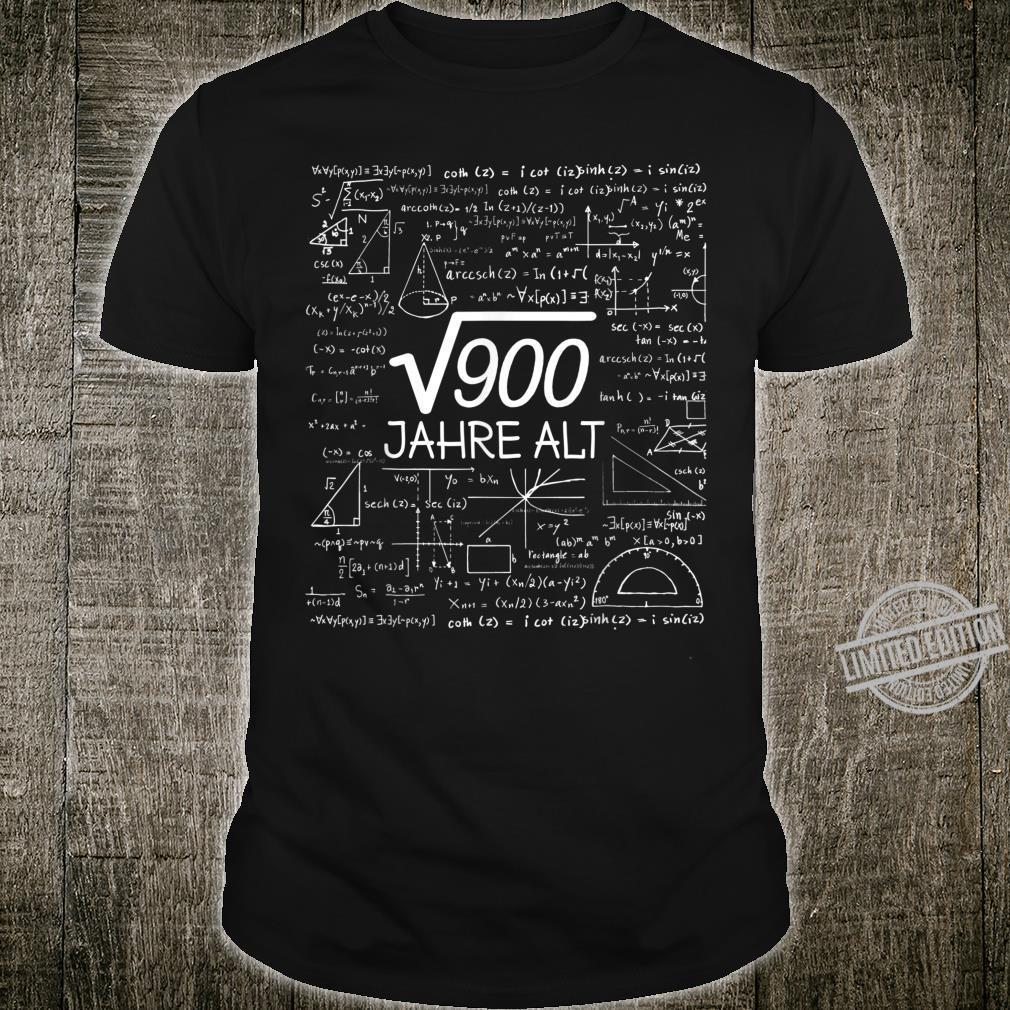 30th Birthday Man 1990 Root 900 = 30 Years Shirt