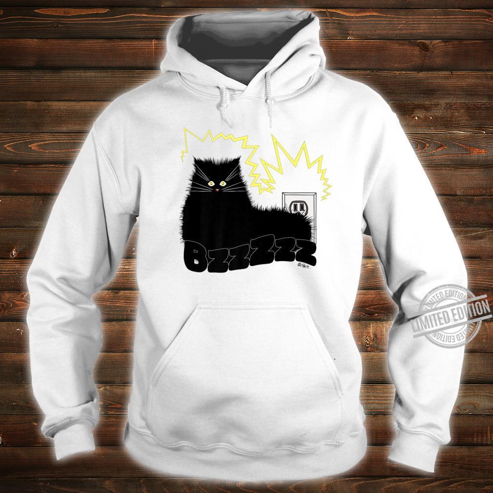 Black Cat Poe Electrocuted Tail In Socket Shirt hoodie