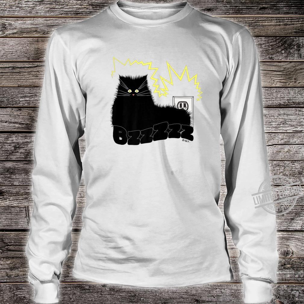 Black Cat Poe Electrocuted Tail In Socket Shirt long sleeved