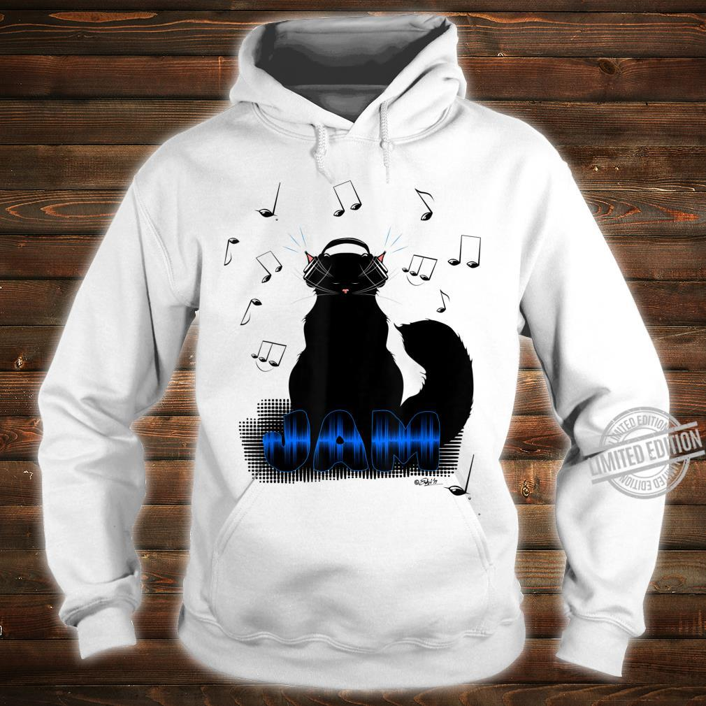 Black Cat Poe Jam Noise Cancel Headphones Shirt hoodie