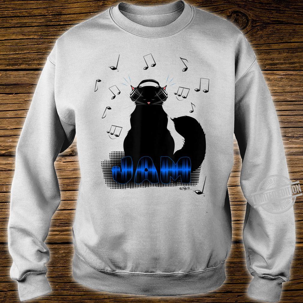 Black Cat Poe Jam Noise Cancel Headphones Shirt sweater