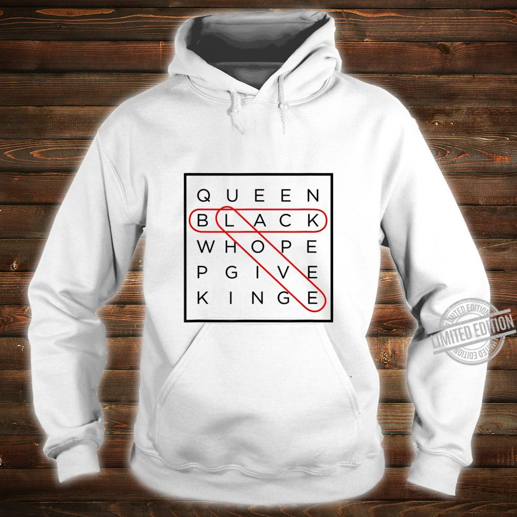 Black Love Themed Word Search Puzzle with Answers Circled Shirt hoodie