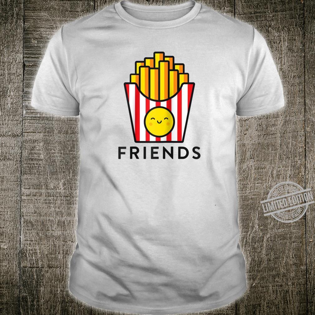 Burger Fries Best Friend Matching BFF Outfits Tee Shirt