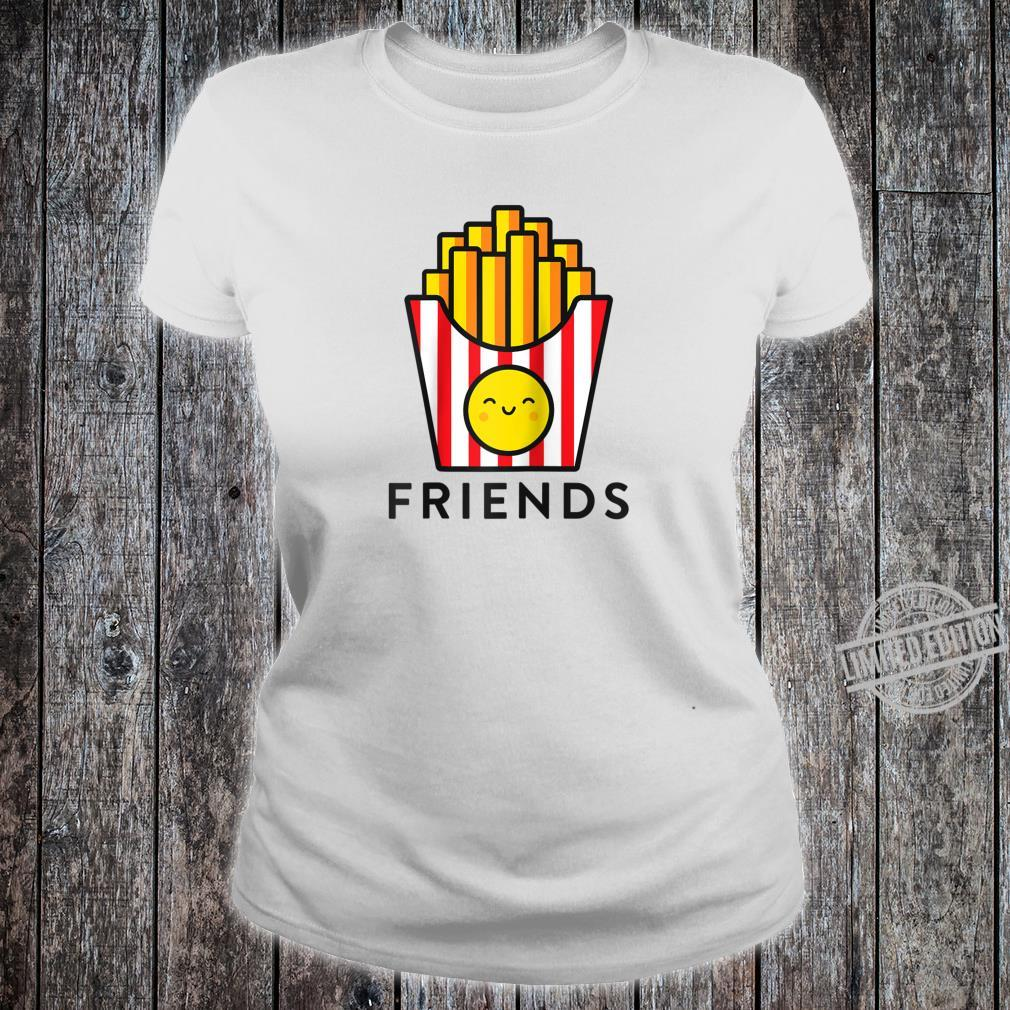 Burger Fries Best Friend Matching BFF Outfits Tee Shirt ladies tee