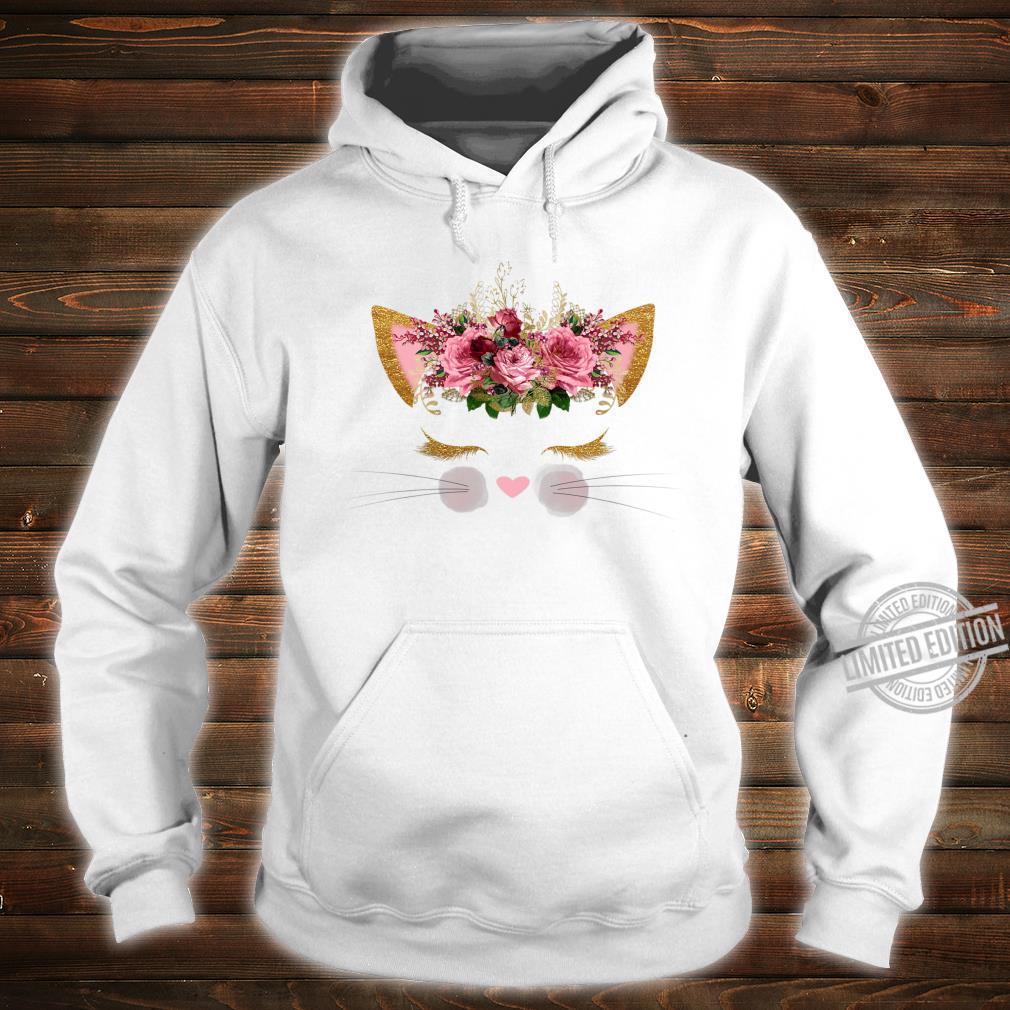 Cat Face Pink Girl Birthday School Princess Kitty Kitten Shirt hoodie