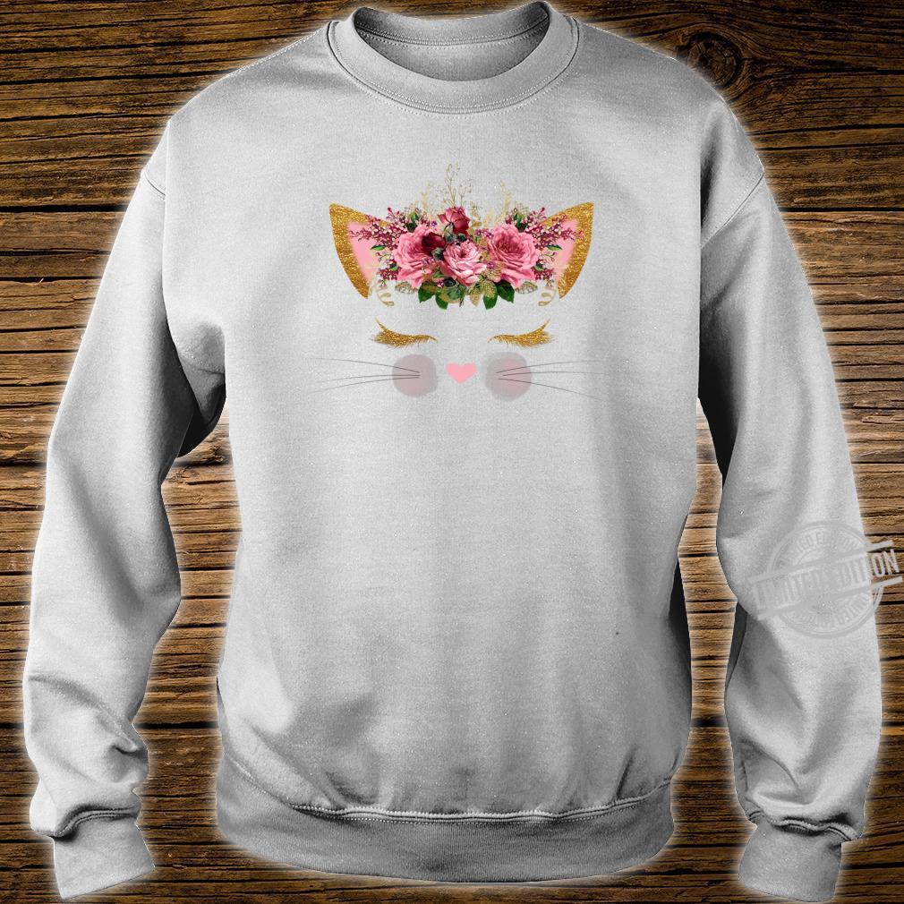 Cat Face Pink Girl Birthday School Princess Kitty Kitten Shirt sweater