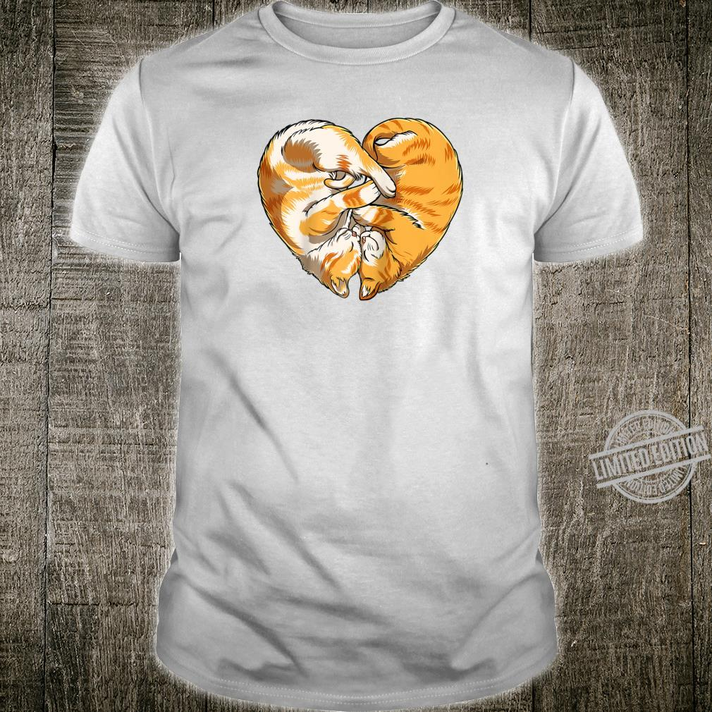 Cat Heart Valentines Day Kitty Kitten Shirt