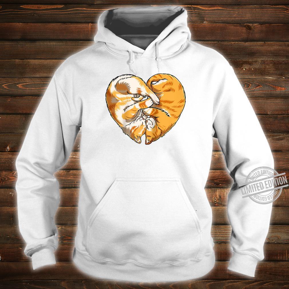 Cat Heart Valentines Day Kitty Kitten Shirt hoodie