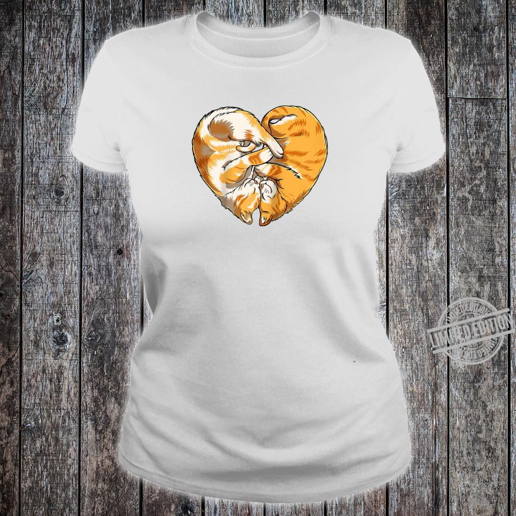 Cat Heart Valentines Day Kitty Kitten Shirt ladies tee