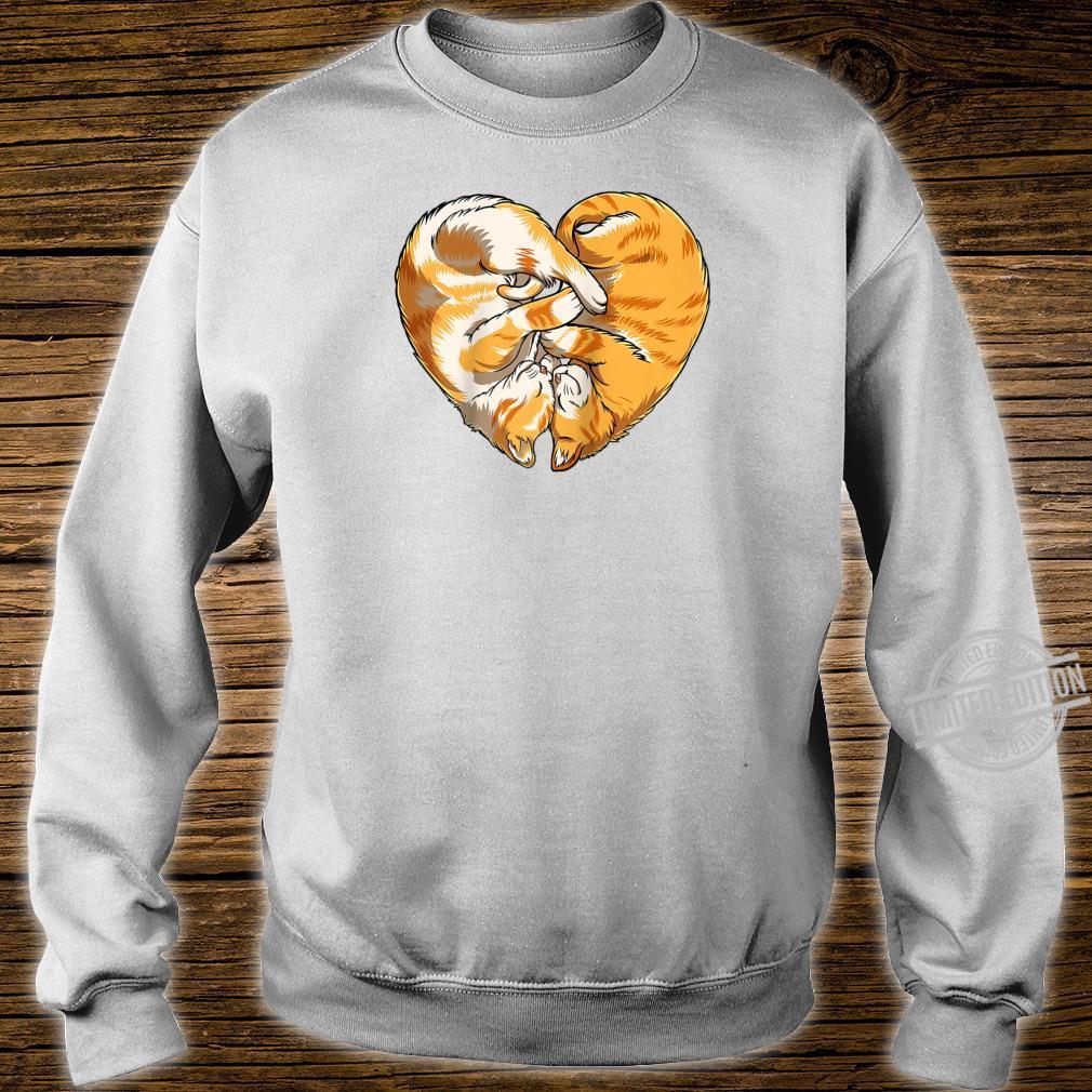 Cat Heart Valentines Day Kitty Kitten Shirt sweater