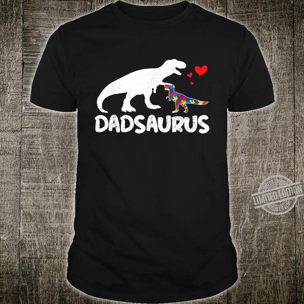 Dinosaur Autism Dad Dadsaurus Autistic Awareness Shirt
