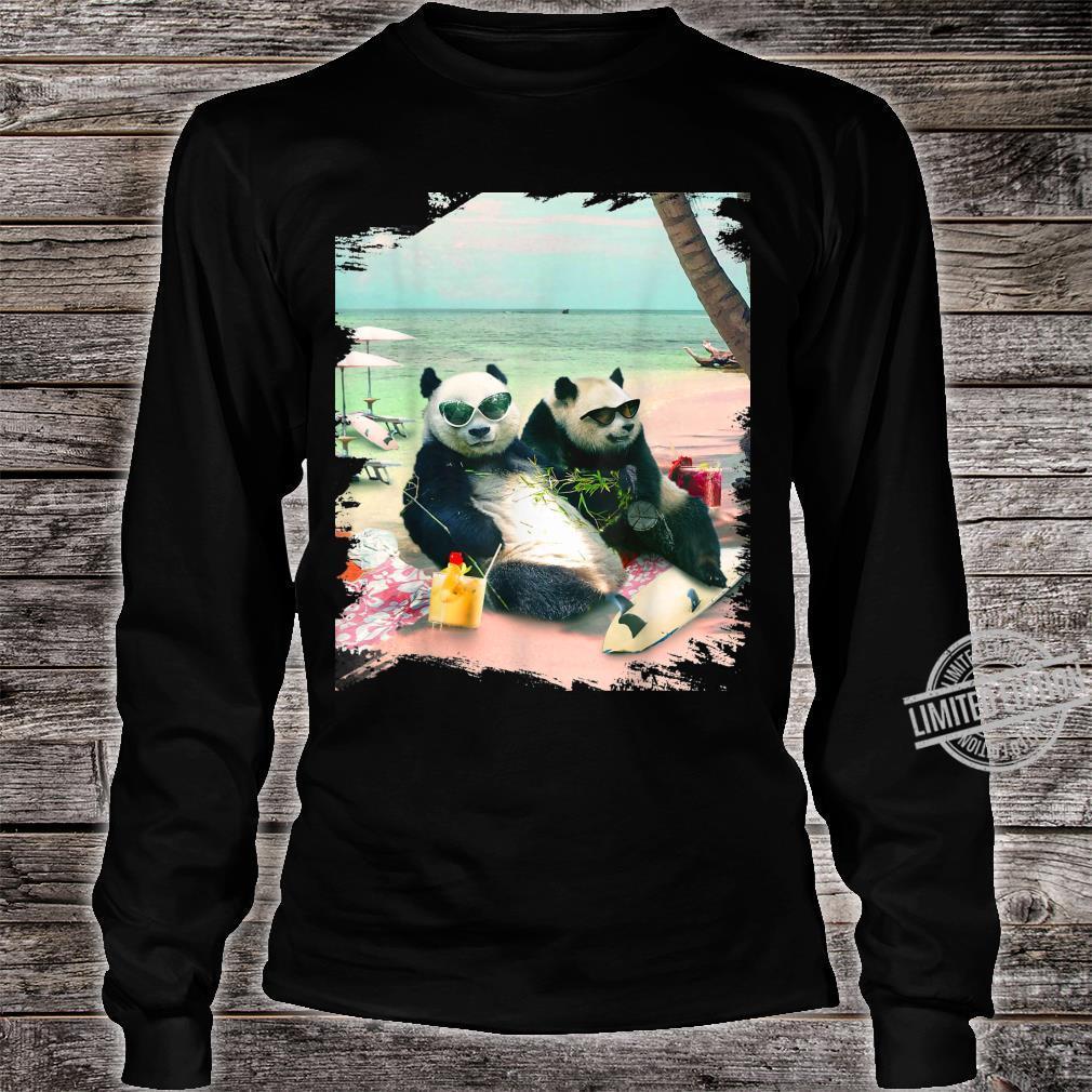 Funny Panda Beach Shirt long sleeved