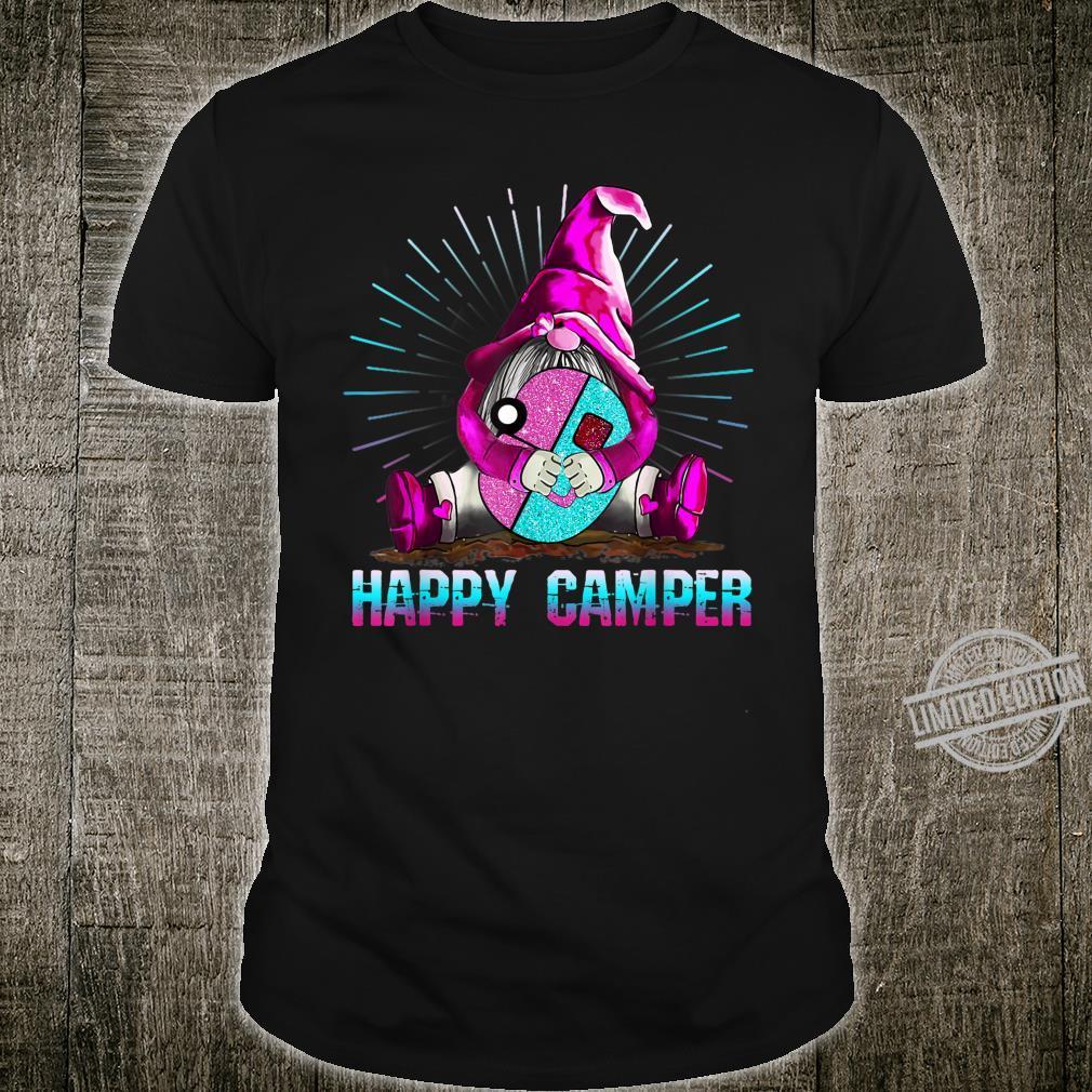 Gnome Happy Camper Shirt Gnome Camping Shirt