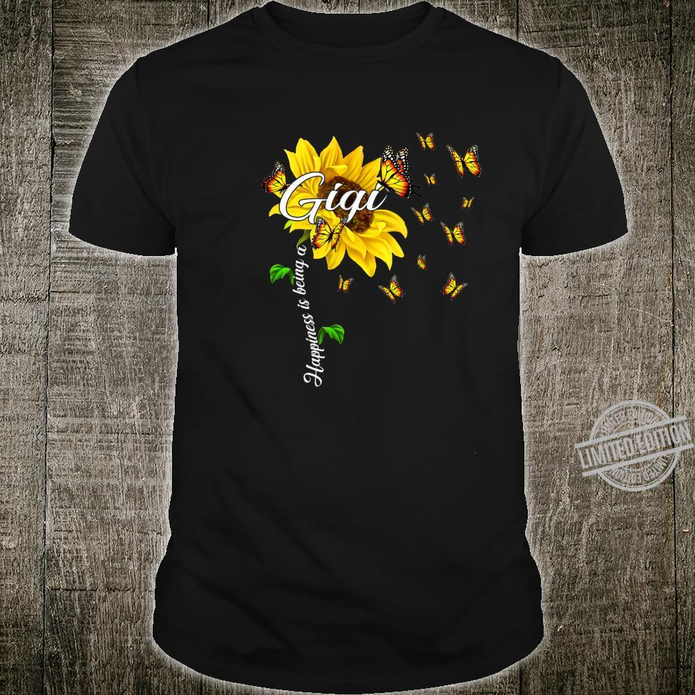 Happiness Is Being A Gigi Mother's Day Sunflower Shirt